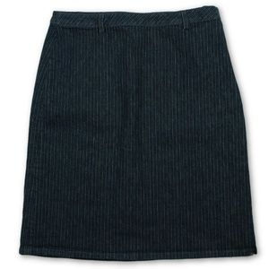 Ann Taylor Womens Pinstripe Stretch Denim Skirt